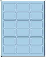"2.5"" X 1.563"" Pastel Blue Sheets"
