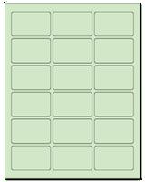 "2.5"" X 1.563"" Pastel Green Sheets"