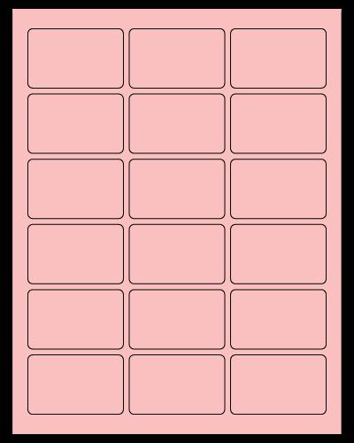 "2.5"" X 1.563"" Pastel Pink Sheets"