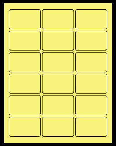 "2.5"" X 1.563"" Pastel Yellow Sheets"
