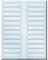 "3.5"" X 0.75"" Frosty (Matte) Clear Sheets"