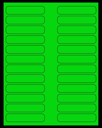 """3.5"""" X 0.75"""" Fluorescent Green Sheets"""
