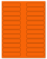 "3.5"" X 0.75"" Fluorescent Orange Sheets"