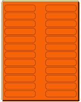 "3.5"" X 0.75"" Fluorescent Orange Sheets"