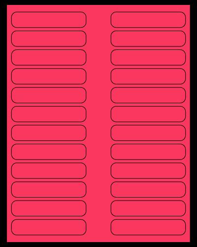 "3.5"" X 0.75"" Fluorescent Pink Sheets"
