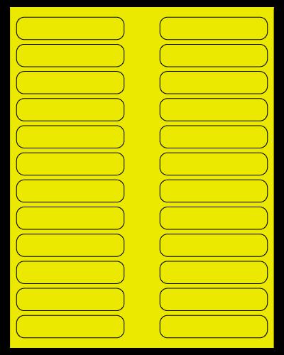 "3.5"" X 0.75"" Fluorescent Yellow Sheets"
