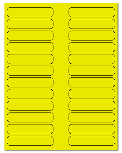 "3.5"" X 0.75"" Fluorescent Yellow Sheets"