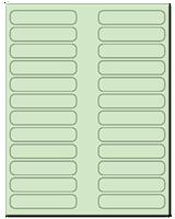 "3.5"" X 0.75"" Pastel Green Sheets"