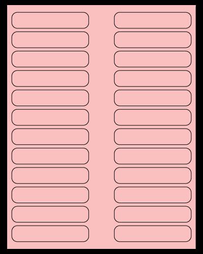"3.5"" X 0.75"" Pastel Pink Sheets"