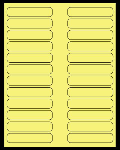 "3.5"" X 0.75"" Pastel Yellow Sheets"