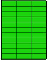 """2.83"""" X 1"""" Fluorescent Green Sheets"""