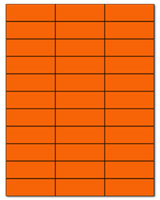 "2.83"" X 1"" Fluorescent Orange Sheets"