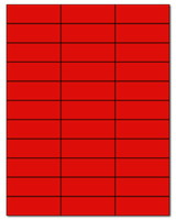 """2.83"""" X 1"""" Fluorescent Red Sheets"""