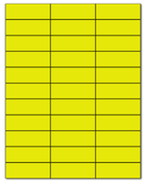 "2.83"" X 1"" Fluorescent Yellow Sheets"