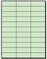 "2.83"" X 1"" Pastel Green Sheets"