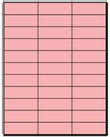 "2.83"" X 1"" Pastel Pink Sheets"