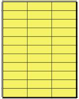 "2.83"" X 1"" Pastel Yellow Sheets"