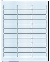 "2.625"" X 0.875"" Frosty (Matte) Clear Sheets"