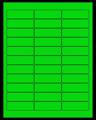 """2.625"""" X 0.875"""" Fluorescent Green Sheets"""