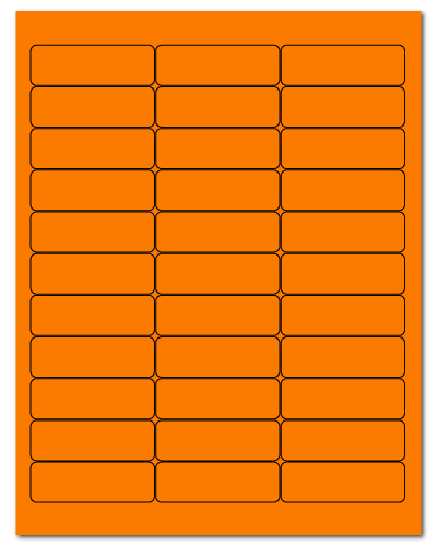 "2.625"" X 0.875"" Fluorescent Orange Sheets"