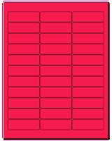 "2.625"" X 0.875"" Fluorescent Pink Sheets"