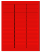 "2.625"" X 0.875"" Fluorescent Red Sheets"
