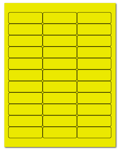 "2.625"" X 0.875"" Fluorescent Yellow Sheets"