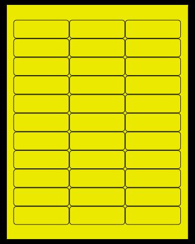 "2.625"" X 0.875"" Fluorescent Yellow Sheets"
