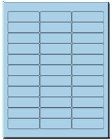 "2.625"" X 0.875"" Pastel Blue Sheets"