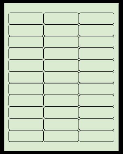 "2.625"" X 0.875"" Pastel Green Sheets"