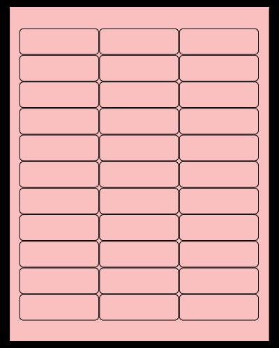 "2.625"" X 0.875"" Pastel Pink Sheets"