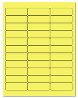 "2.625"" X 0.875"" Pastel Yellow Sheets"