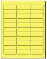 "2.625"" X 0.875"" Pastel Yellow Sheets"