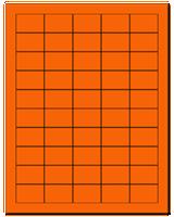 "1.5"" X 1"" Fluorescent Orange Sheets"