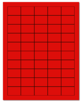 """1.5"""" X 1"""" Fluorescent Red Sheets"""