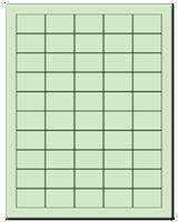 "1.5"" X 1"" Pastel Green Sheets"
