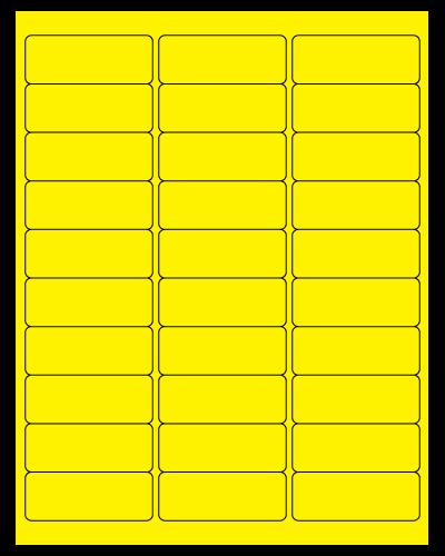 "2.625"" x 1"" Piggyback Label Sheets"