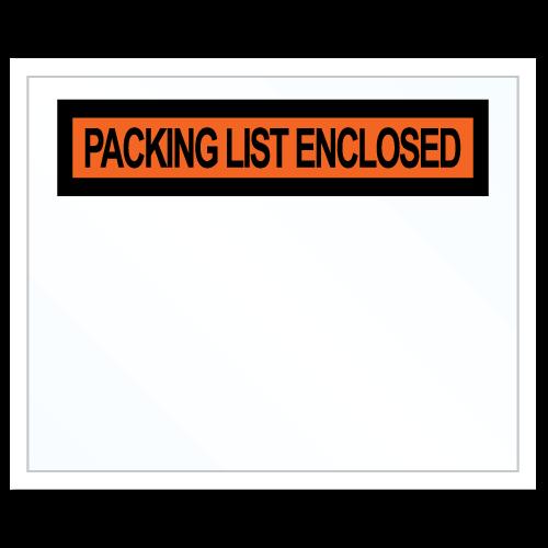"""Packing List Enclosed"" Sticker Envelopes"