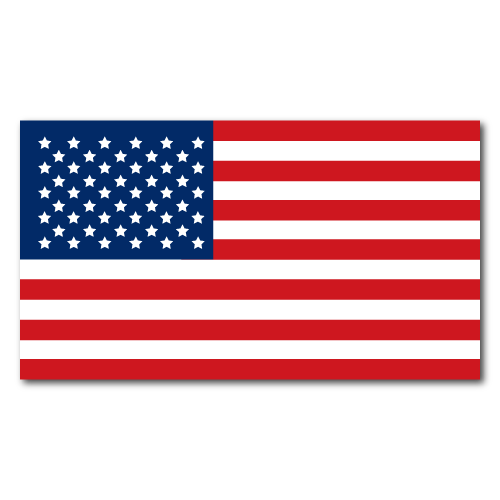 """4"""" x 2.25"""" American Flag Rectangles Stickers"""