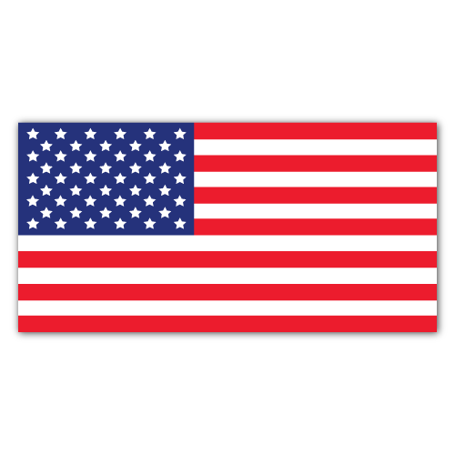 7.5 x 3.75 American Flag Rectangles Stickers
