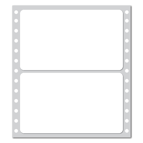 "5"" x 2.9375"" Blank Pin-feed Stickers"