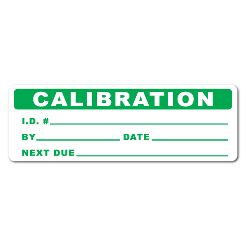3 x 1 Calibration Stickers, Roll of 50 Stickers
