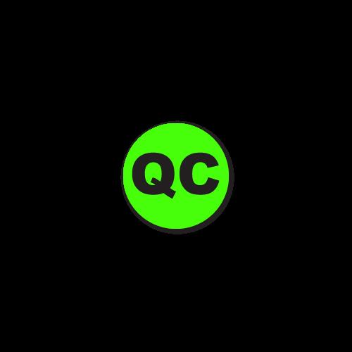 """QC"" Quality Control Stickers"