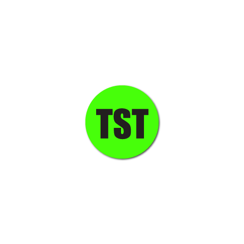 """TST"" Quality Control Stickers"