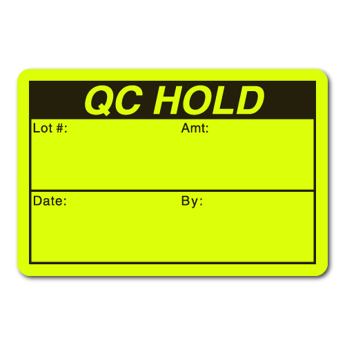 """""""QC HOLD"""" 3 x 2 Rectangle Stickers"""