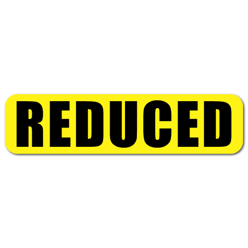 """""""REDUCED"""" - 2"""" x 0.5"""" Rectangle Stickers"""
