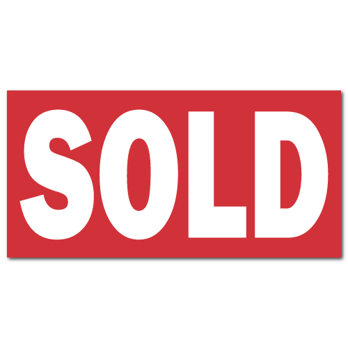 SOLD Real Estate Sign Stickers