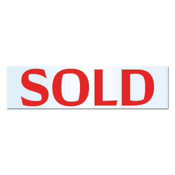 """""""SOLD"""" Real Estate Weatherproof Clear Gloss Film Stickers"""