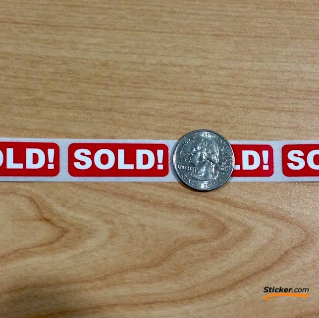 """SOLD"" - 2"" x 0.5"" Stickers"