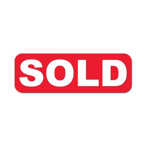 """SOLD"" - 0.75"" x 0.25"" Stickers"